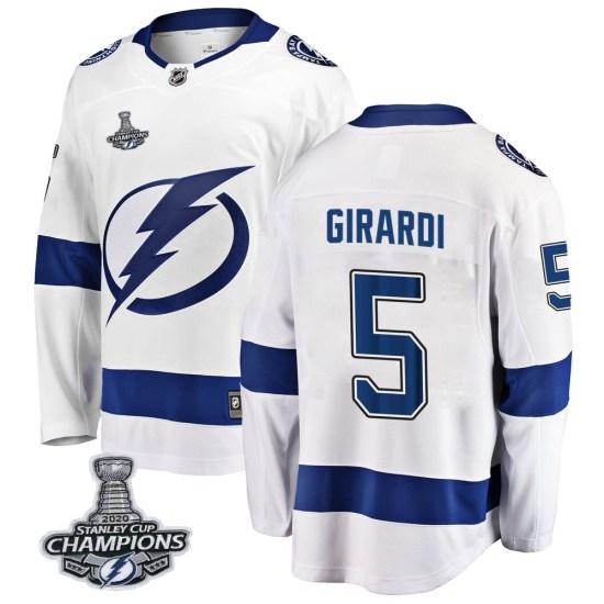 Dan Girardi Tampa Bay Lightning Breakaway Away 2020 Stanley Cup Champions Fanatics Branded Jersey - White