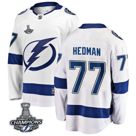 Victor Hedman Tampa Bay Lightning Breakaway Away 2020 Stanley Cup Champions Fanatics Branded Jersey - White