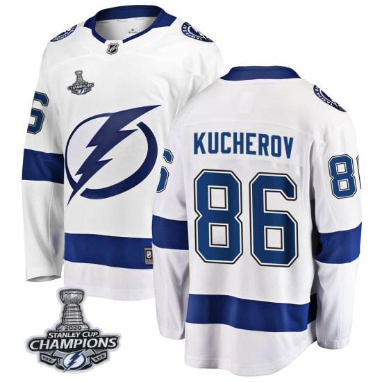 Nikita Kucherov Tampa Bay Lightning Breakaway Away 2020 Stanley Cup Champions Fanatics Branded Jersey - White
