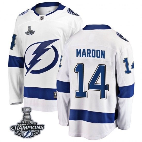 Patrick Maroon Tampa Bay Lightning Breakaway Away 2020 Stanley Cup Champions Fanatics Branded Jersey - White
