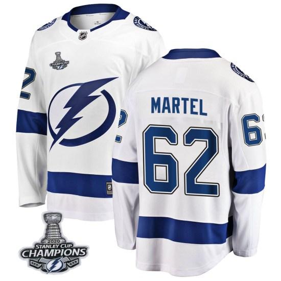 Danick Martel Tampa Bay Lightning Breakaway Away 2020 Stanley Cup Champions Fanatics Branded Jersey - White