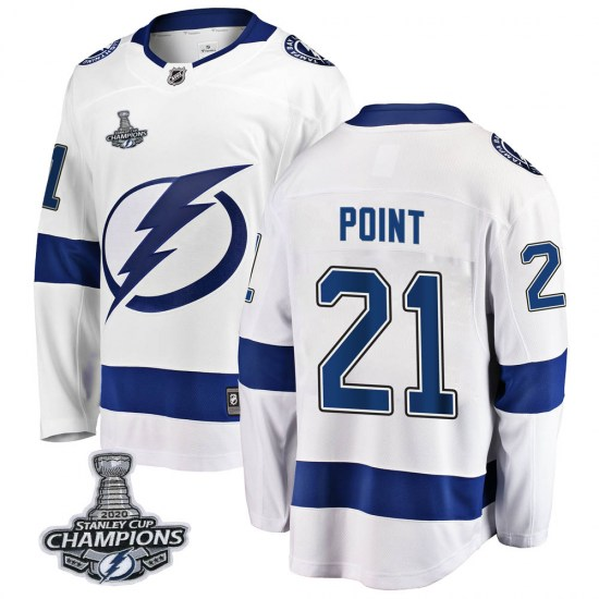 Brayden Point Tampa Bay Lightning Breakaway Away 2020 Stanley Cup Champions Fanatics Branded Jersey - White