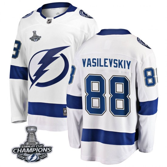 Andrei Vasilevskiy Tampa Bay Lightning Breakaway Away 2020 Stanley Cup Champions Fanatics Branded Jersey - White