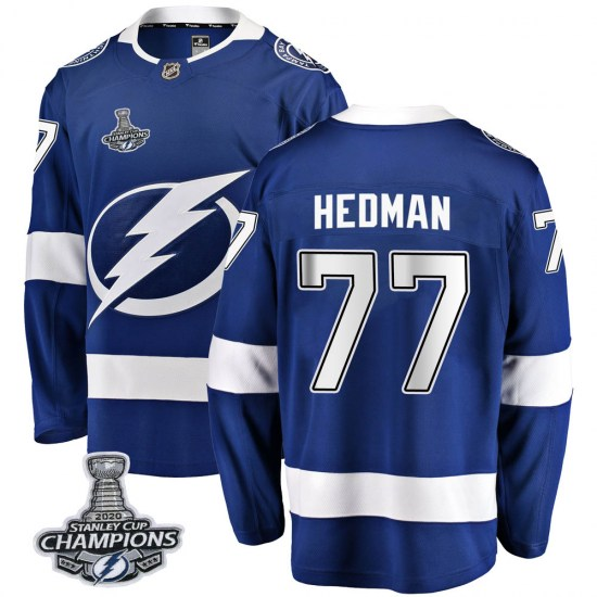 Victor Hedman Tampa Bay Lightning Breakaway Home 2020 Stanley Cup Champions Fanatics Branded Jersey - Blue