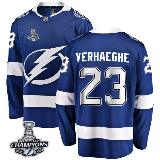 Carter Verhaeghe Tampa Bay Lightning Breakaway Home 2020 Stanley Cup Champions Fanatics Branded Jersey - Blue