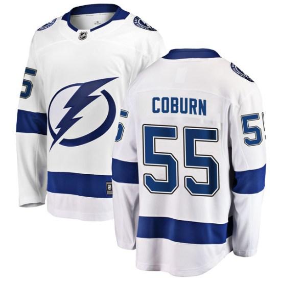 Braydon Coburn Tampa Bay Lightning Youth Breakaway Away Fanatics Branded Jersey - White
