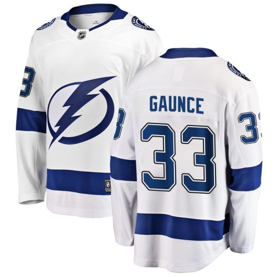 Cameron Gaunce Tampa Bay Lightning Youth Breakaway Away Fanatics Branded Jersey - White
