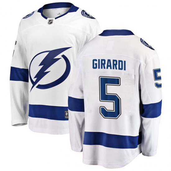 Dan Girardi Tampa Bay Lightning Youth Breakaway Away Fanatics Branded Jersey - White
