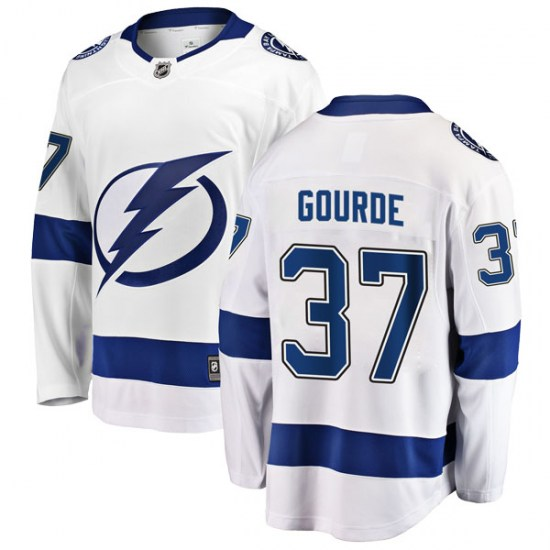 Yanni Gourde Tampa Bay Lightning Youth Breakaway Away Fanatics Branded Jersey - White