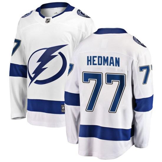 Victor Hedman Tampa Bay Lightning Youth Breakaway Away Fanatics Branded Jersey - White