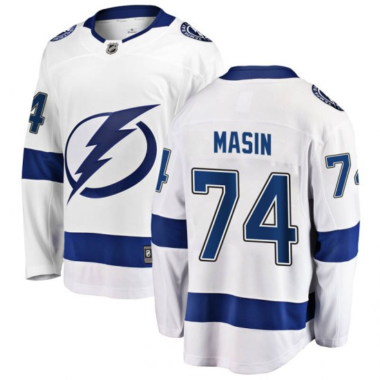 Dominik Masin Tampa Bay Lightning Youth Breakaway Away Fanatics Branded Jersey - White