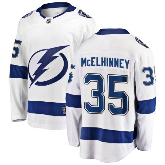 Curtis McElhinney Tampa Bay Lightning Youth Breakaway Away Fanatics Branded Jersey - White