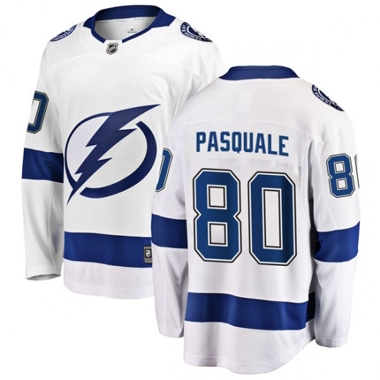 Eddie Pasquale Tampa Bay Lightning Youth Breakaway Away Fanatics Branded Jersey - White