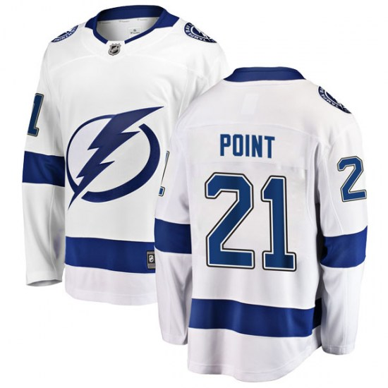 Brayden Point Tampa Bay Lightning Youth Breakaway Away Fanatics Branded Jersey - White