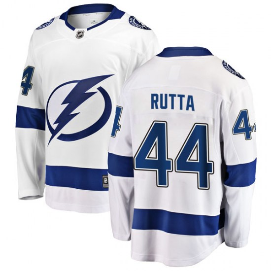 Jan Rutta Tampa Bay Lightning Youth Breakaway Away Fanatics Branded Jersey - White