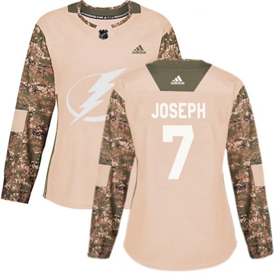 Mathieu Joseph Tampa Bay Lightning Women's Authentic Veterans Day Practice Adidas Jersey - Camo
