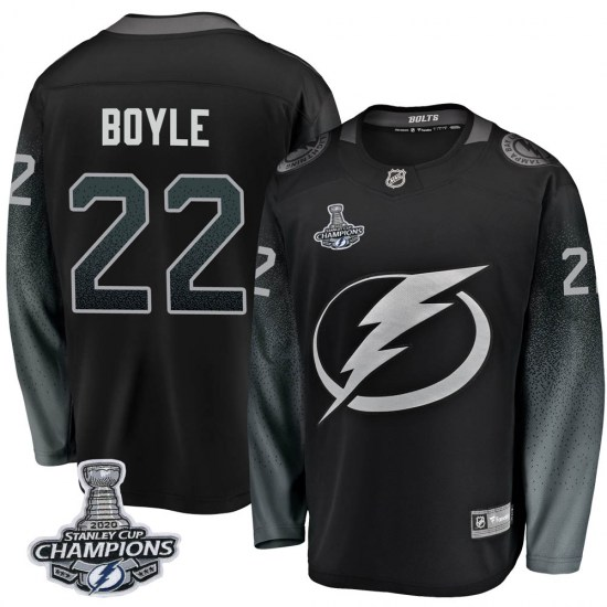 Dan Boyle Tampa Bay Lightning Youth Breakaway Alternate 2020 Stanley Cup Champions Fanatics Branded Jersey - Black