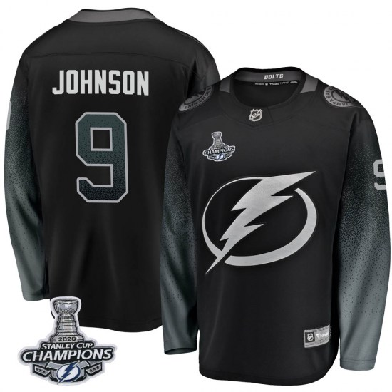 Tyler Johnson Tampa Bay Lightning Youth Breakaway Alternate 2020 Stanley Cup Champions Fanatics Branded Jersey - Black