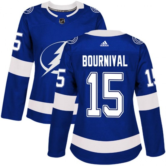 Michael Bournival Tampa Bay Lightning Women's Authentic Home Adidas Jersey - Blue