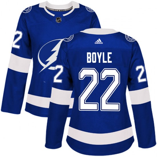 Dan Boyle Tampa Bay Lightning Women's Authentic Home Adidas Jersey - Blue