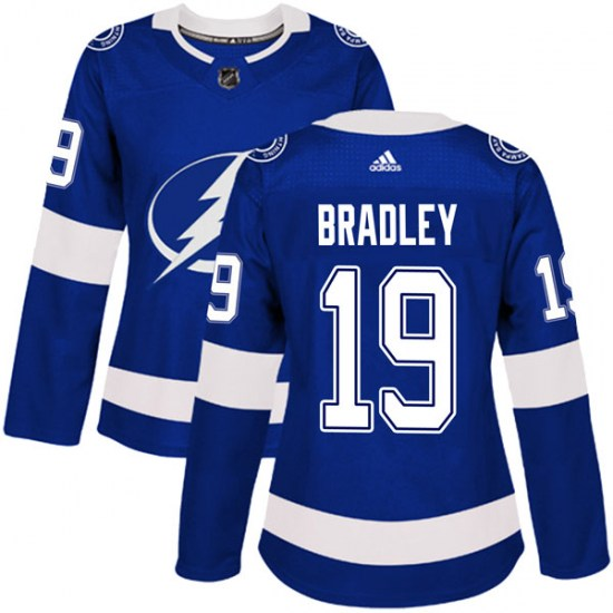 Brian Bradley Tampa Bay Lightning Women's Authentic Home Adidas Jersey - Blue