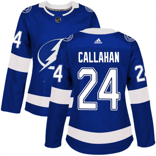 Ryan Callahan Tampa Bay Lightning Women's Authentic Home Adidas Jersey - Blue