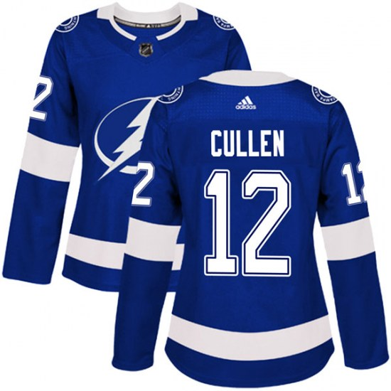 John Cullen Tampa Bay Lightning Women's Authentic Home Adidas Jersey - Blue