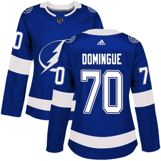 Louis Domingue Tampa Bay Lightning Women's Authentic Home Adidas Jersey - Blue