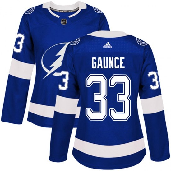 Cameron Gaunce Tampa Bay Lightning Women's Authentic Home Adidas Jersey - Blue