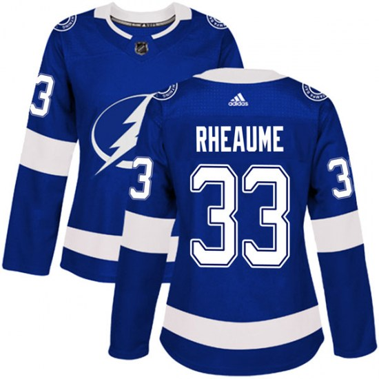 Manon Rheaume Tampa Bay Lightning Women's Authentic Home Adidas Jersey - Blue