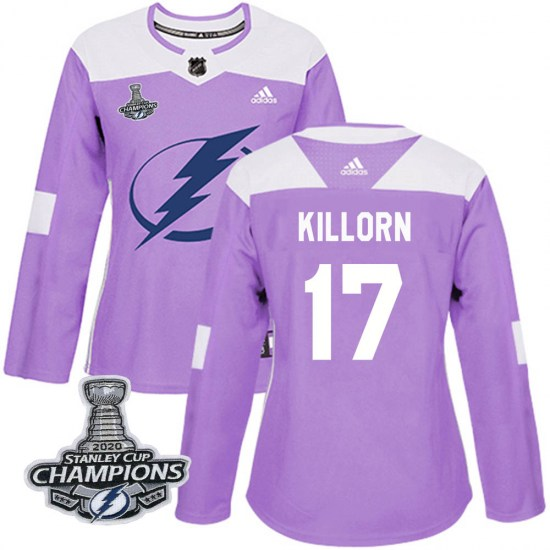 Alex Killorn Tampa Bay Lightning Women's Authentic Fights Cancer Practice 2020 Stanley Cup Champions Adidas Jersey - Purple
