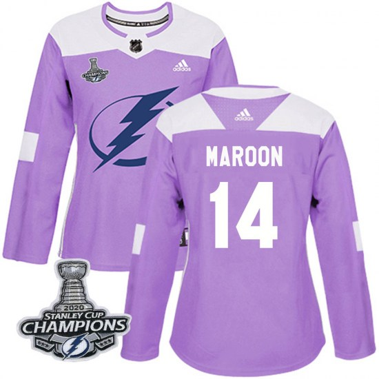Patrick Maroon Tampa Bay Lightning Women's Authentic Fights Cancer Practice 2020 Stanley Cup Champions Adidas Jersey - Purple