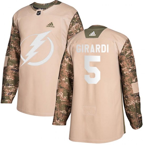 Dan Girardi Tampa Bay Lightning Youth Authentic Veterans Day Practice Adidas Jersey - Camo
