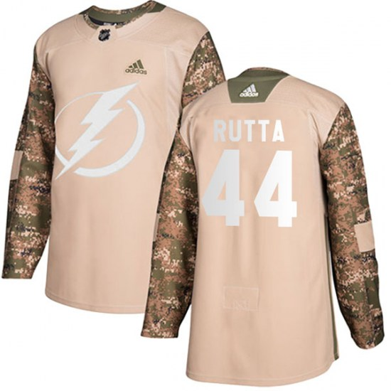 Jan Rutta Tampa Bay Lightning Youth Authentic Veterans Day Practice Adidas Jersey - Camo