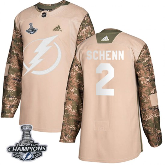 Luke Schenn Tampa Bay Lightning Authentic Veterans Day Practice 2020 Stanley Cup Champions Adidas Jersey - Camo