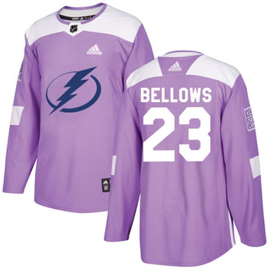 Brian Bellows Tampa Bay Lightning Youth Authentic Fights Cancer Practice Adidas Jersey - Purple