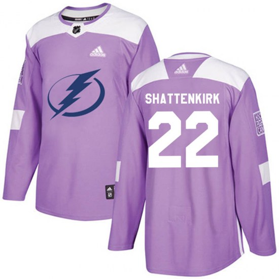 Kevin Shattenkirk Tampa Bay Lightning Youth Authentic Fights Cancer Practice Adidas Jersey - Purple