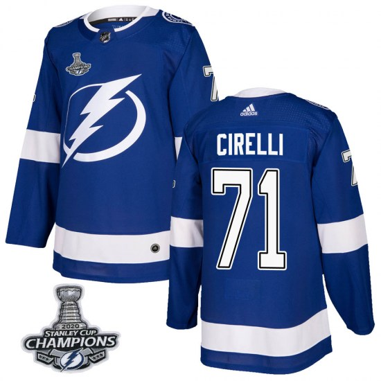 Anthony Cirelli Tampa Bay Lightning Authentic Home 2020 Stanley Cup Champions Adidas Jersey - Blue