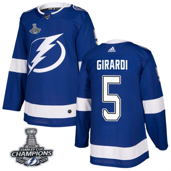 Dan Girardi Tampa Bay Lightning Authentic Home 2020 Stanley Cup Champions Adidas Jersey - Blue