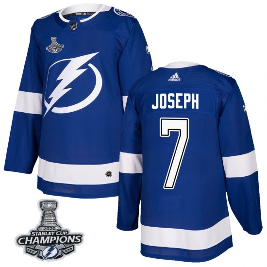 Mathieu Joseph Tampa Bay Lightning Authentic Home 2020 Stanley Cup Champions Adidas Jersey - Blue
