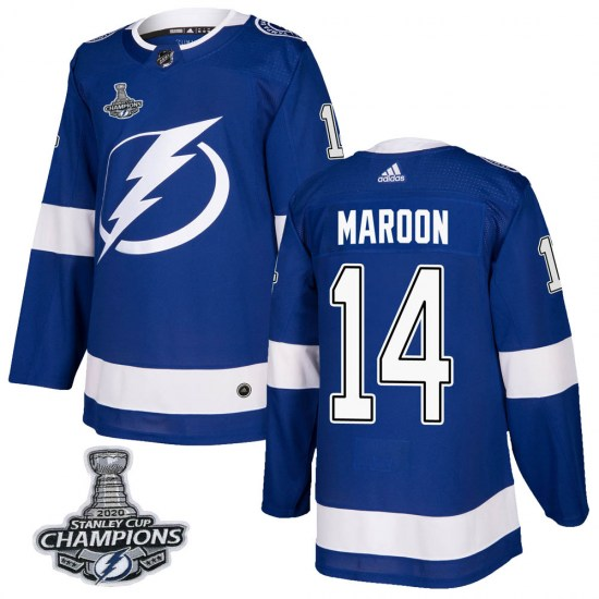 Patrick Maroon Tampa Bay Lightning Authentic Home 2020 Stanley Cup Champions Adidas Jersey - Blue