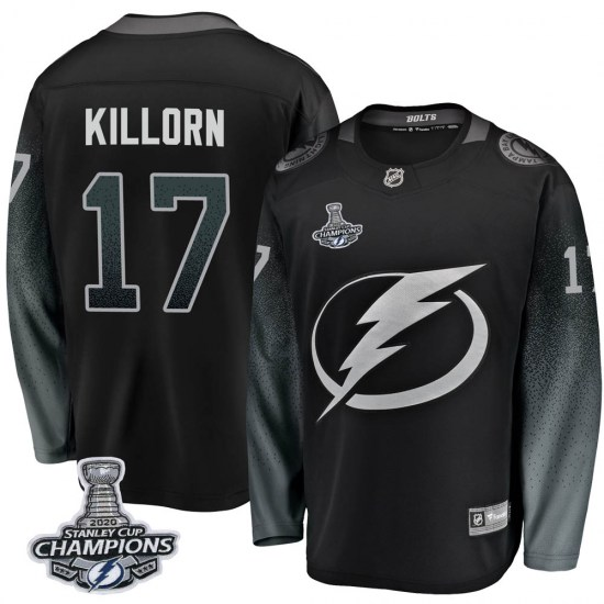 Alex Killorn Tampa Bay Lightning Breakaway Alternate 2020 Stanley Cup Champions Fanatics Branded Jersey - Black