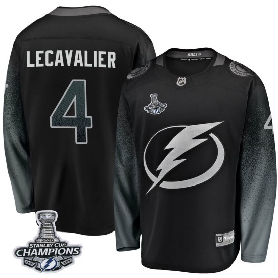 Vincent Lecavalier Tampa Bay Lightning Breakaway Alternate 2020 Stanley Cup Champions Fanatics Branded Jersey - Black