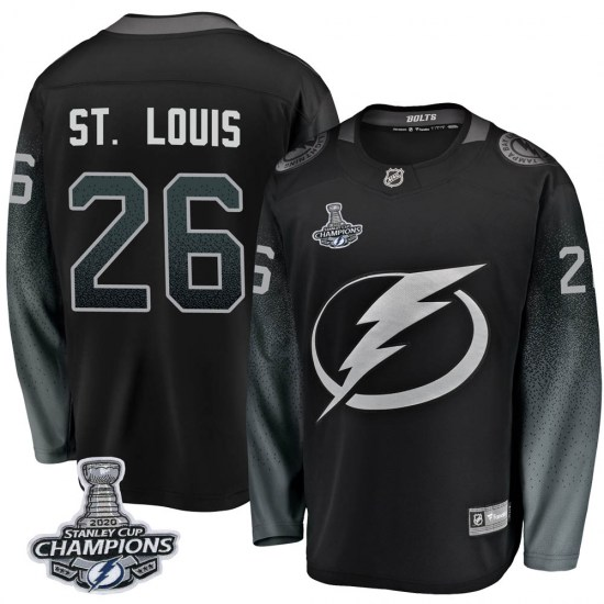 Martin St. Louis Tampa Bay Lightning Breakaway Alternate 2020 Stanley Cup Champions Fanatics Branded Jersey - Black