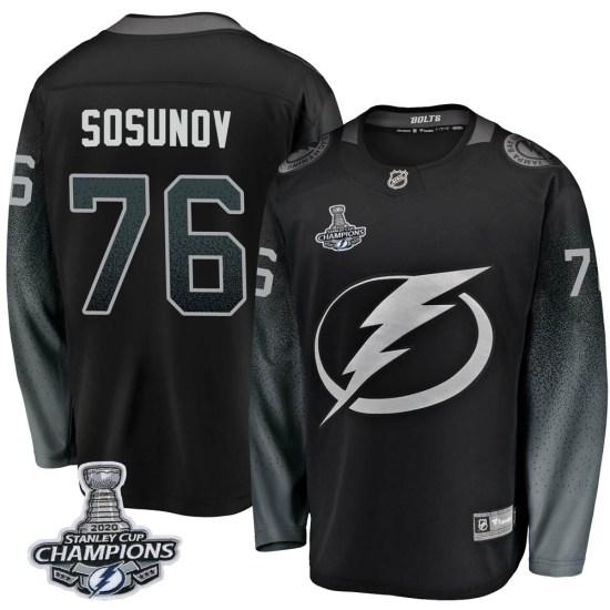 Oleg Sosunov Tampa Bay Lightning Breakaway Alternate 2020 Stanley Cup Champions Fanatics Branded Jersey - Black
