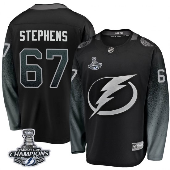 Mitchell Stephens Tampa Bay Lightning Breakaway Alternate 2020 Stanley Cup Champions Fanatics Branded Jersey - Black