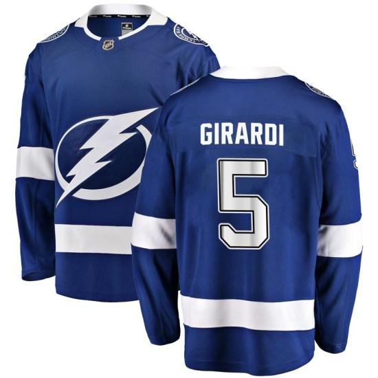 Dan Girardi Tampa Bay Lightning Youth Breakaway Home Fanatics Branded Jersey - Blue