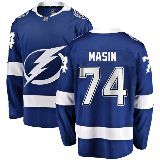 Dominik Masin Tampa Bay Lightning Youth Breakaway Home Fanatics Branded Jersey - Blue