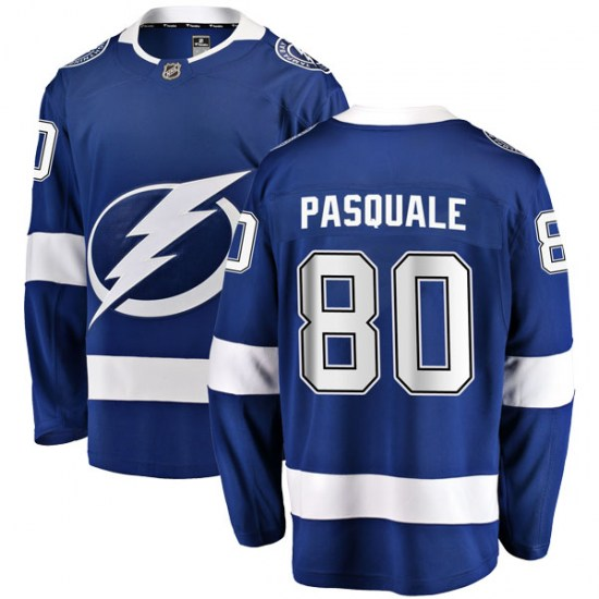 Eddie Pasquale Tampa Bay Lightning Youth Breakaway Home Fanatics Branded Jersey - Blue