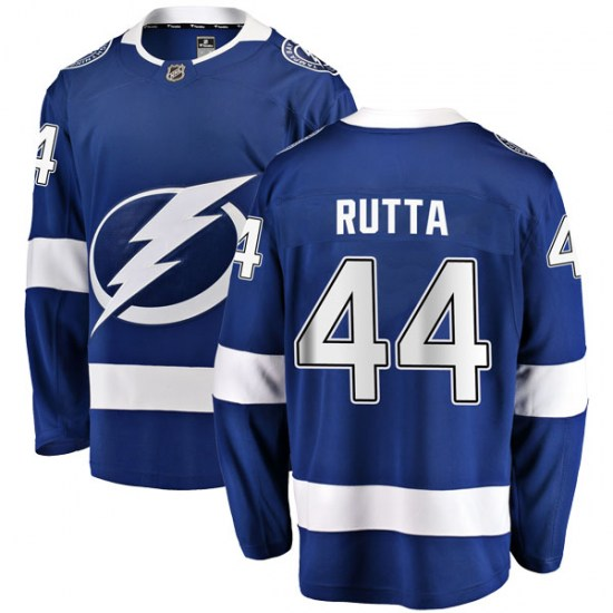 Jan Rutta Tampa Bay Lightning Youth Breakaway Home Fanatics Branded Jersey - Blue